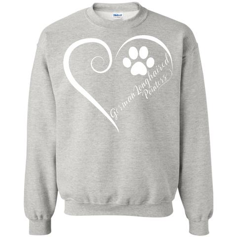 German Longhaired Pointer, Always in my Heart Sweatshirt