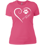 Siberian Husky, Always in my Heart Ladies' Boyfriend Tee