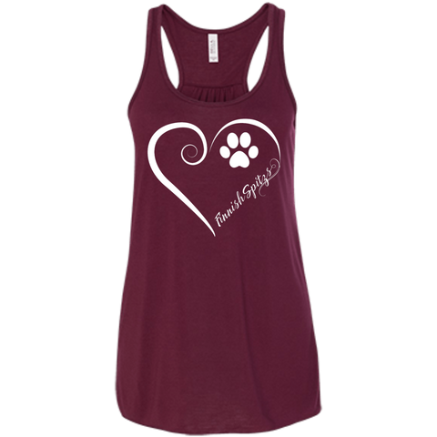 Finnish Spitz, Always in my Heart Flowy Racerback Tank