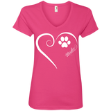 Mudi, Always in my Heart Ladies V Neck Tee