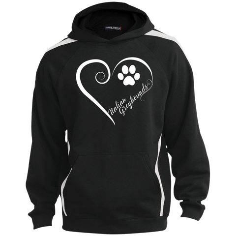 Italian Greyhound, Always in my Heart  Colorblock Sweatshirt