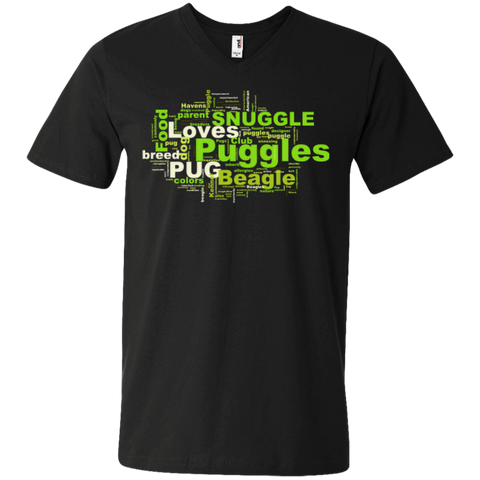 Puggle Cloud Men's Printed V-Neck T