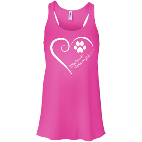 Miniature Schnauzer, Always in my Heart Flowy Racerback Tank