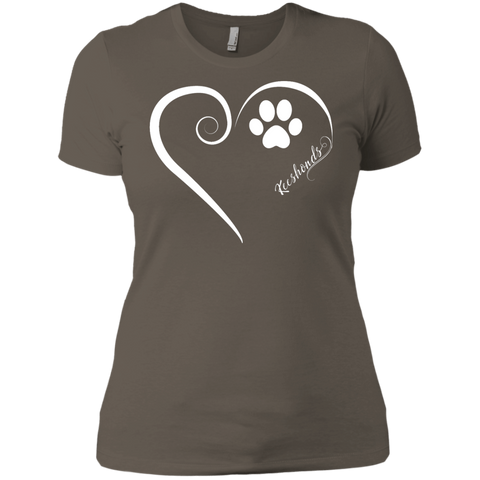 Keeshond, Always in my Heart Ladies' Boyfriend Tee