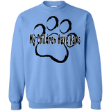 My Children Have Paws Unisex Gildan Crewneck Pullover Sweatshirt 8 oz.