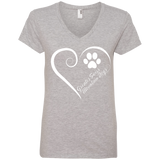 Greater Swiss Mountain Dog, Always in my Heart Ladies V Neck Tee
