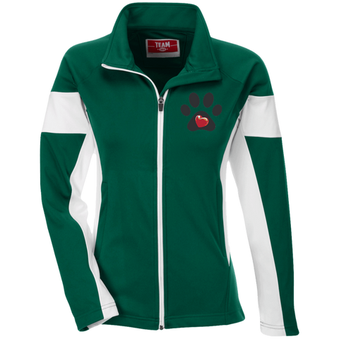 My Heart Embroidered Ladies Performance Colorblock Jacket