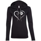 Maltipoo, Always in my Heart Ladies T-Shirt Hoodie