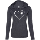 Finnish Lappund, Always in my Heart Ladies LS T-Shirt Hoodie