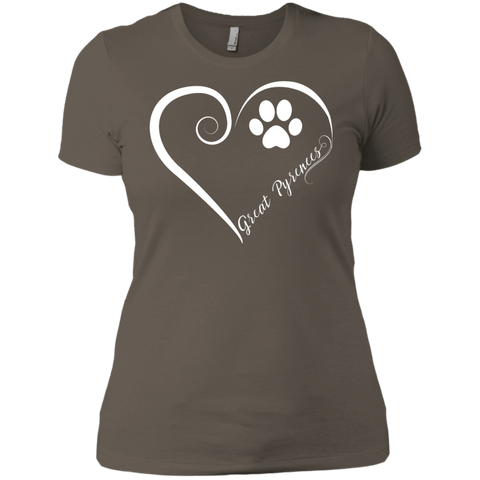 Great Pyrenees, Always in my Heart Ladies' Boyfriend Tee