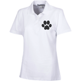 Paw Print Ladies Embroidered Stain Resistant Sport Shirt