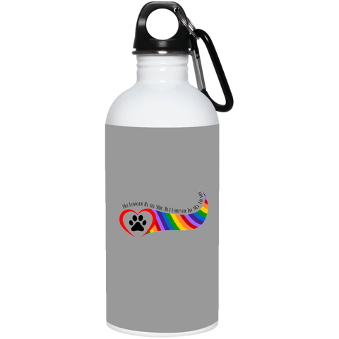 Paw in Heart Rainbow Right No Longer By My Side 23663 20 oz. Stainless Steel Water Bottle