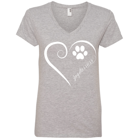Jagdterriers, Always in my Heart Ladies V Neck Tee