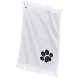 Paw Print Embroidered Grommeted Finger Tip Towel