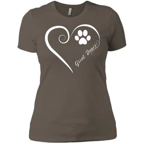 Great Dane, Always in my Heart Ladies' Boyfriend Tee