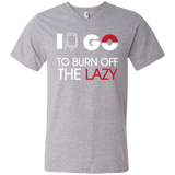 I Go to Burn Off Lazy I Go V-Neck Tee