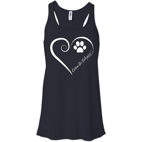 Coton De Tulear, Always in my Heart Flowy Racerback Tank