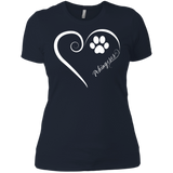 Pekingese, Always in my Heart Ladies' Boyfriend Tee