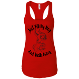 Just Fill My Mug and Walk Away NL1533 Next Level Ladies Ideal Racerback Tank
