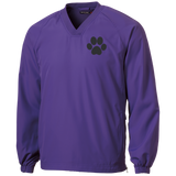 Paw Print Tall Pullover V-Neck Windshirt