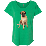 English Mastiff What's for Lunch Ladies' Triblend Dolman Sleeve