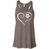 Scottish Terrier, Always in my Heart Flowy Racerback Tank