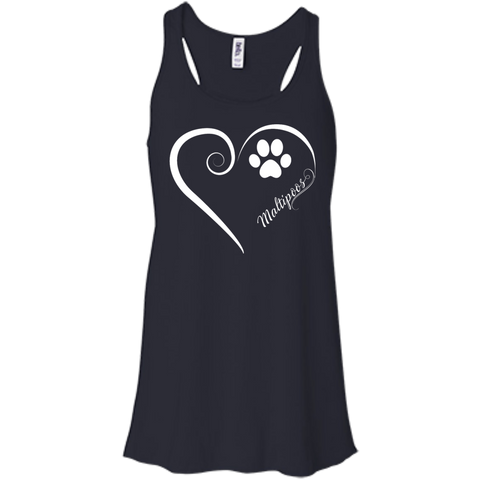 Maltipoo, Always in my Heart Flowy Racerback Tank
