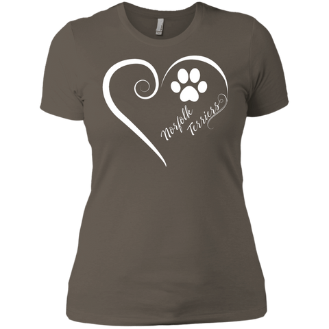 Norfolk Terrier, Always in my Heart  Ladies' Boyfriend Tee