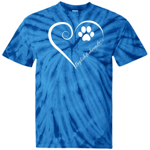 English Foxhound, Always in my Heart Tie Dye T-Shirt