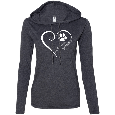Irish Water Spaniel, Always in my Heart  Ladies T-Shirt Hoodie