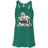 I kissed A Poodle Flowy Racerback Tank