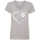 Field Spaniel, Always in my Heart Ladies V Neck Tee