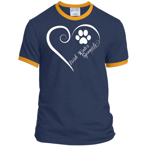 Irish Water Spaniel, Always in my Heart  Ringer Tee