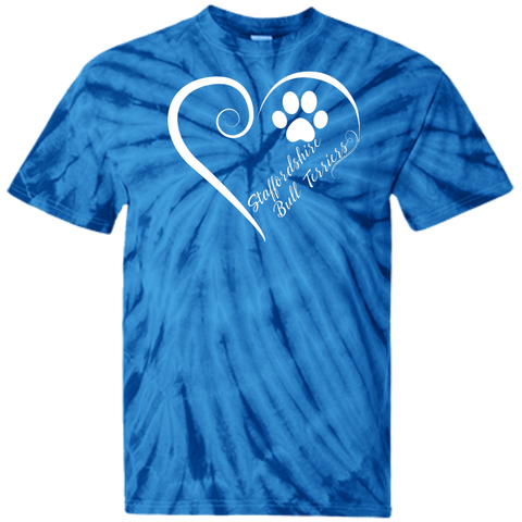 Staffordshire Bull Terrier, Always in my Heart Tie Dye Tee