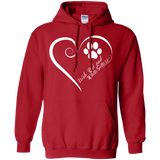 Irish Red and White Setter, Always in my Heart Hoodie