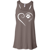 Mudi, Always in my Heart Flowy Racerback Tank