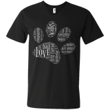 Paw Print Word Cloud Men's Printed V-Neck T