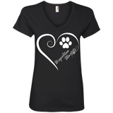 Neapolitan Mastiff, Always in my Heart Ladies V Neck Tee
