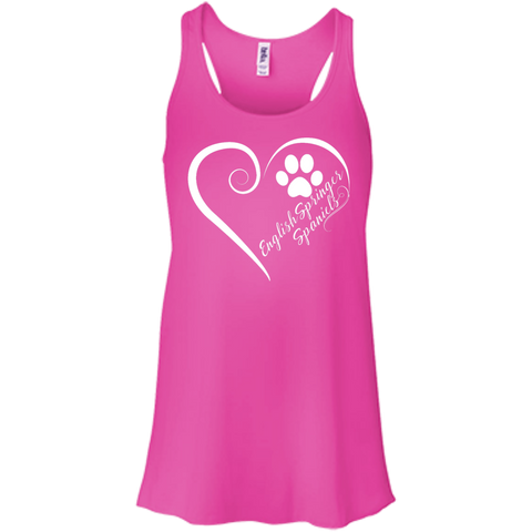 English Springer Spaniel, Always in my Heart Flowy Racerback Tank