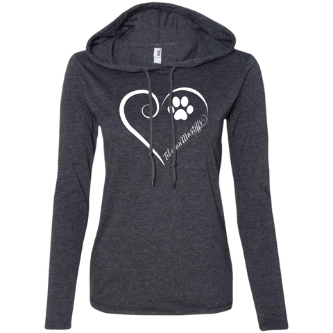 Tibetan Mastiff, Always in my Heart Ladies T-Shirt Hoodie
