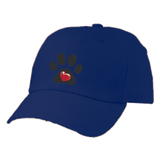 Embroidered My Heart Paw Print Twill Cap