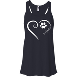 Keeshond, Always in my Heart Flowy Racerback Tank