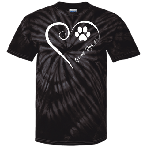 Great Dane, Always in my Heart Tie Dye T-Shirt