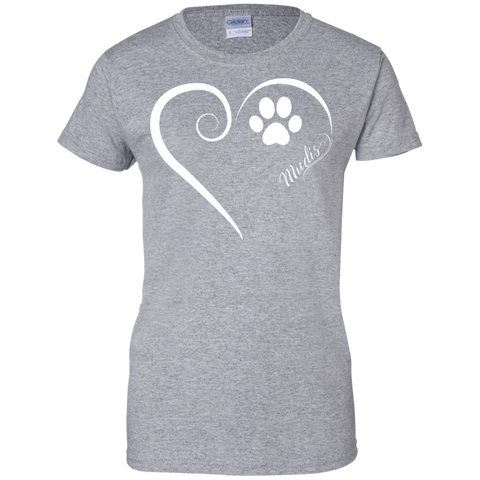 Mudi, Always in my Heart Name Here Ladies Tee