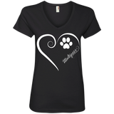 Maltipoo, Always in my Heart Ladies V Neck Tee