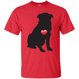 My Heart Sitting Pug Ultra Cotton T-Shirt
