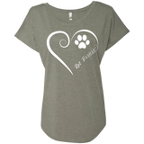 Rat Terrier, Always in my Heart Ladies Triblend Dolman Sleeve