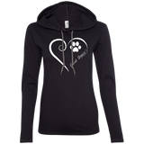 Great Dane, Always in my Heart Ladies LS T-Shirt Hoodie