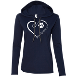 French Spaniel, Always in my Heart Ladies LS T-Shirt Hoodie