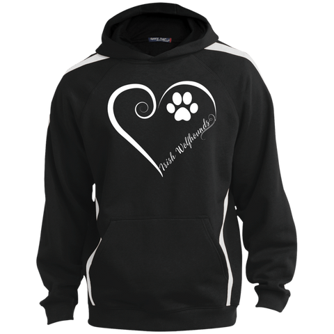 Irish Wolfhound, Always in my Heart  Colorblock Sweatshirt